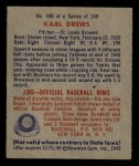 1949 Bowman #188  Karl Drews  Back Thumbnail