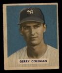 1949 Bowman #225  Gerry Coleman  Front Thumbnail