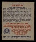 1949 Bowman #58   Bob Elliott Back Thumbnail