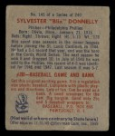 1949 Bowman #145  Sylvester Donnelly  Back Thumbnail