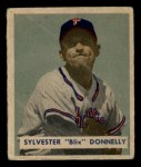 1949 Bowman #145   Sylvester Donnelly Front Thumbnail