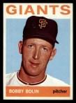 1964 Topps #374 COR Bob Bobby Bolin  Front Thumbnail