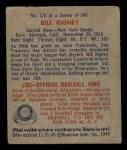 1949 Bowman #170   Bill Rigney Back Thumbnail