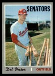 1970 Topps #336  Del Unser  Front Thumbnail