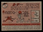 1958 Topps #23 WN  Bill Tuttle Back Thumbnail