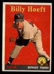 1958 Topps #13 YNR Billy Hoeft  Front Thumbnail