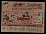 1958 Topps #13 YNR Billy Hoeft  Back Thumbnail