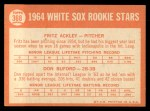 1964 Topps #368   -  Fritz Ackley / Don Buford White Sox Rookies Back Thumbnail