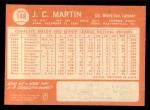 1964 Topps #148  J.C. Martin  Back Thumbnail