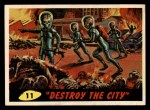 1962 Bubbles Inc Mars Attacks #11   Destroy the City Front Thumbnail