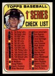 1969 Topps #57 B  -  Denny McLain Checklist 1   Front Thumbnail