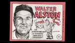 1969 Topps #24 ERR  Walter Alston   Back Thumbnail