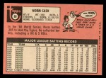 1969 Topps #80  Norm Cash  Back Thumbnail