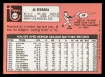 1969 Topps #452 WN  Al Ferrara Back Thumbnail