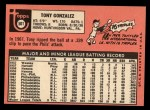 1969 Topps #501 WN  Tony Gonzalez Back Thumbnail