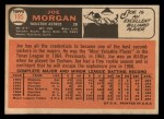 1966 Topps #195  Joe Morgan  Back Thumbnail