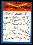 1973 Topps Blue Team Checklists #5   Chicago Cubs Front Thumbnail