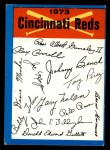 1973 Topps Blue Team Checklists  Cincinnati Reds  Front Thumbnail