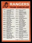 1973 Topps Blue Team Checklists  Texas Rangers  Back Thumbnail