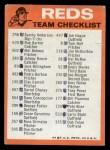 1973 Topps #7  Reds Team Checklist  Back Thumbnail