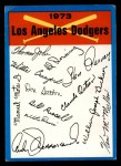 1973 Topps Blue Team Checklists #12   Los Angeles Dodgers Front Thumbnail