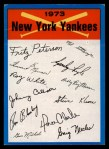 1973 Topps Blue Team Checklists #17   New York Yankees Front Thumbnail