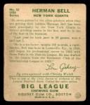 1934 Goudey #52   Herman Bell Back Thumbnail