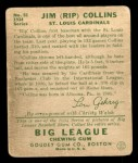 1934 Goudey #51  Rip Collins  Back Thumbnail