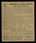 1934 Goudey #94   Red Rolfe Back Thumbnail
