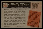 1955 Bowman #294   Wally Moses Back Thumbnail