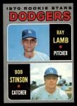 1970 Topps #131   -  Ray Lamb / Bob Stinson Dodgers Rookies Front Thumbnail