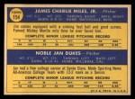 1970 Topps #154  Senators Rookie Stars  -  Jan Dukes / Jim Miles Back Thumbnail