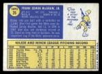 1970 Topps #26   Tug McGraw Back Thumbnail