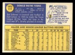1970 Topps #117   Don Young Back Thumbnail
