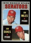 1970 Topps #154  Senators Rookies  -  Jan Dukes / Jim Miles Front Thumbnail