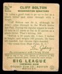 1934 Goudey #65  Cliff Bolton  Back Thumbnail