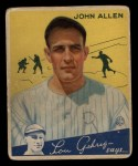1934 Goudey #42   Johnny Allen Front Thumbnail
