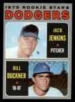 1970 Topps #286  Dodgers Rookies  -  Jack Jenkins / Bill Buckner Front Thumbnail