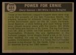 1961 Topps #451  Power for Ernie  -  Daryl Spencer / Bill White / Ernie Broglio Back Thumbnail