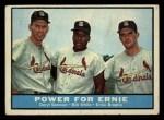 1961 Topps #451  Power for Ernie  -  Daryl Spencer / Bill White / Ernie Broglio Front Thumbnail