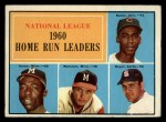 1961 Topps #43   -  Hank Aaron / Ernie Banks / Ken Boyer / Eddie Mathews NL HR Leaders Front Thumbnail