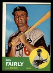 1963 Topps #105 COR Ron Fairly  Front Thumbnail