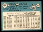1965 Topps #500  Eddie Mathews  Back Thumbnail