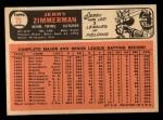 1966 Topps #73 COR  Jerry Zimmerman  Back Thumbnail
