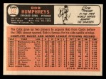 1966 Topps #342  Bob Humphreys  Back Thumbnail