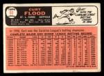 1966 Topps #60   Curt Flood Back Thumbnail