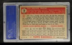 1952 Topps #31 RED  Gus Zernial Back Thumbnail