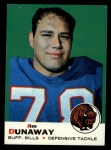1969 Topps #10   Jim Dunaway Front Thumbnail