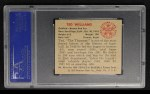 1950 Bowman #98   Ted Williams Back Thumbnail