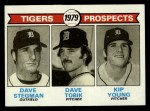 1979 Topps #706   Tigers Prospects     -  Dave Stegman / Dave Tobik / Kip Young Front Thumbnail